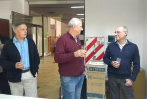 Aldo Vecchietti junto a Carlos Schneider y Roberto Mato